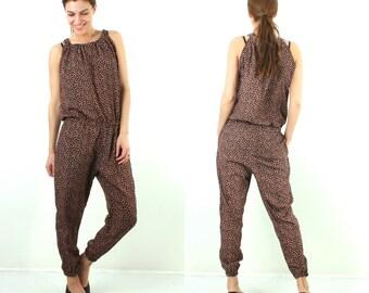 Vintage Jumpsuit / 90s Jumpsuit / Woman Jumpsuit / Summer Jumpsuit / Summer Romper / Sleeveless Jumpsuit / Floral Romper / Floral Jumpsuit