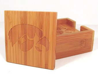 Sports Team Coasters - Engraved Bamboo - Choose Your Team