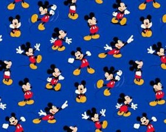 Mickey Mouse packed on royal blue - disney fabric - Classic Mickey - Springs Creative #17275 - cotton quilting fabric - HALF YARD cut