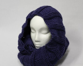 Two by Four Cowl knitting PATTERN - ribbed warm bulky cowl - permission to sell finished items