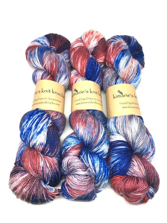 Hand Dyed Sparkle Yarn, Sock Yarn, Fingering Yarn_ Prime
