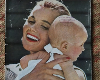 """Retro vintage knitting patterns for baby from birth to 3 years """"Baby of my knitting"""" french magazine"""