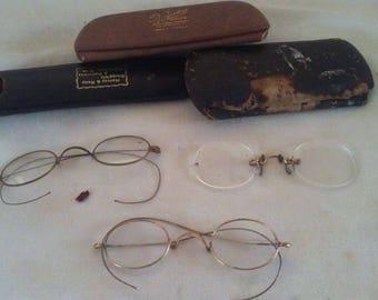 Three very vintage eye glasses