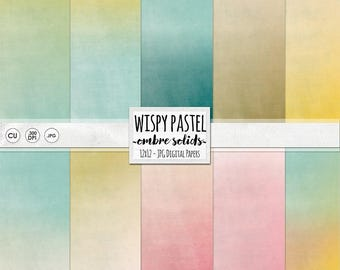 Wispy Ombre Digital Paper, Gradient Printable Background Paper, Faded Pastel Pink, Create Baby Shower Printables, Instant Digital
