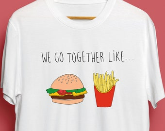 T-shirt Burger fries