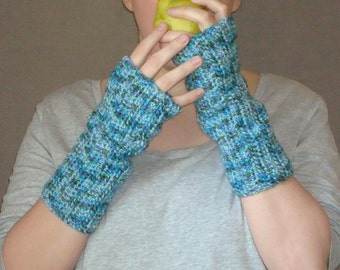 Spring Brook Fingerless Gloves for Women, Multicolor Fingerless Gloves, Purple, Green, Grey, Blue Fingerless Gloves