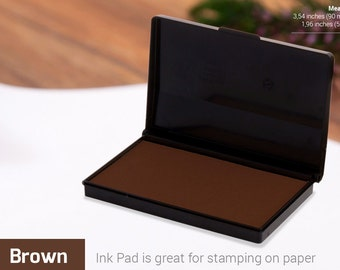 INK PAD STAMP - Brown Ink Pad - Stamp Ink Colours - Choice of Colors - Ink for Rubber Stamp