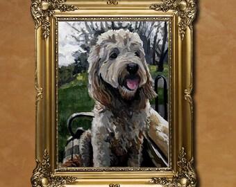 """16"""" x 20"""" or 20"""" x 20"""" Commissioned Pet Portrait"""