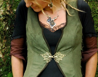 Steampunk waistcoats, Goa clothes, Boho vests, Rave wear, Fairy tops for women, Tribal clothing, Funky vest for her, Psy Festival fashion