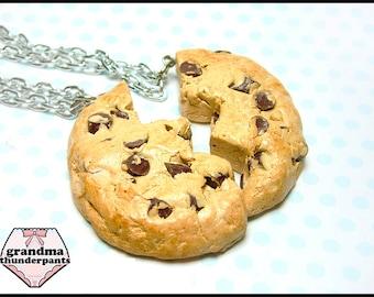 Chocolate Chip BFF Necklace Set, Best Friends, Friendship Necklace