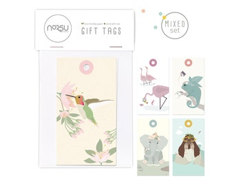 Gift tags - Mixed set   10 pcs - 5 x 9 cm / 19.7 x 27.5 inches