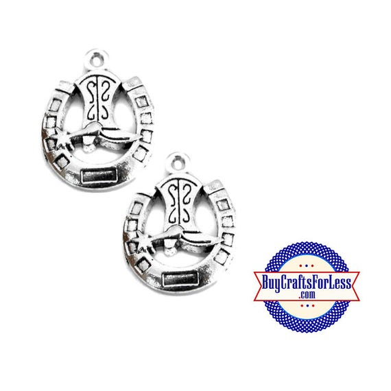 99cent Shipping*~HORSESHOE BOOT Charms, 4 pcs-Great for Bracelet, Earrings or Pendant +49cents addt'l items +Discounts*
