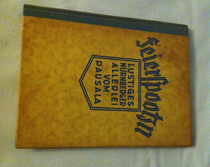 Antique 1929 Nuremberg Book funny