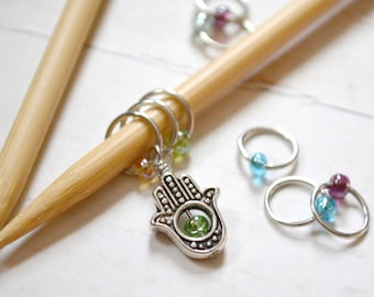 SALE!! Symbol of Protection / Knitting Stitch Marker Set / Snag Free / Small Medium Large Sizes Available