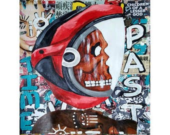 Street 98 - Size:  14 X 17 - Acrylic