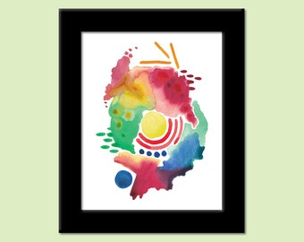 Abstract 5 - Colorful Contemporary Modern Art Print by Megan Q.C. Gallagher