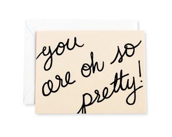 Oh So Pretty Letterpress Note Card