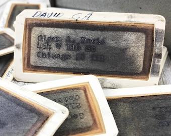 5 Vintage Elliott Addressing Machine Stencils - Used