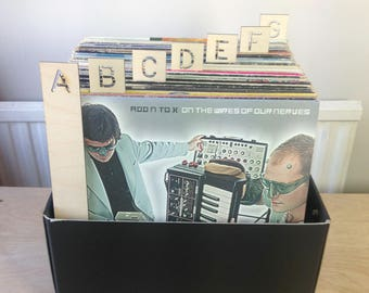 Vertical, A-Z Vinyl Record Dividers - perfect for your growing record collection - 26 piece set - Laser Cut