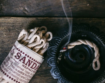 Nepali Rope Incense,  Sandalwood, Rope Incense, Incense, Cinnamon Incense, Natural Incense, Smudge