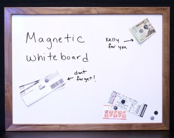 "18""x24"" Magnetic Dry Erase Board / Magnetic Whiteboard - Solid Wood Framed Message Center - Message Board - Command Center - Magnet Board"