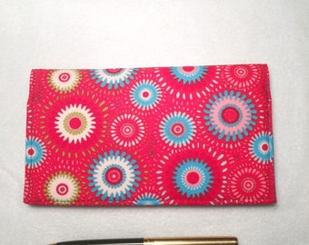 Checkbook Cover for Duplicate Checks - Fabric Checkbook  - Checkbook Cover for Women -  L Miller Creations