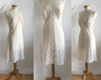 Vintage 1950s Petticoat Slip Nylon Lace St Michaels Rare Unworn 50s Curvy Bombshell 18