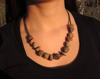 Terracotta Brown necklace