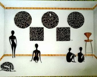 Observation -  digital painting, by Caroline Herschdorfer