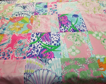 Lilly Pulitzer baby quilt