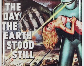 The Day The Earth Stood Still Movie Poster FRIDGE MAGNET Sci Fi Vintage Style