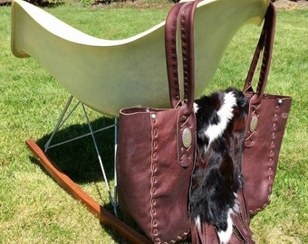 Custom leather purse bag diaper bag hobo with your choice of design country