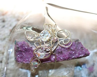 Pink Cobalto Calcite Wire Wrapped Pendant