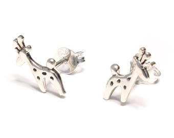 Giraffe earrings 925 sterling silver