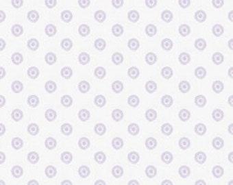 Pick Your Yardage Baby Lavender Polka Dot Print 100% Cotton