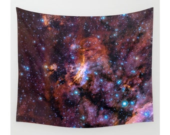 Wall Tapestry, Space Tapestry, Wall Hanging, Nebula Galaxy Stars Sky Space, Large Photo Wall Art, Modern Tapestry, Home Decor