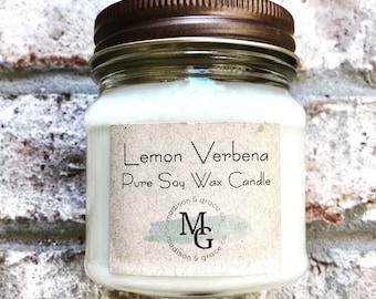 Lemon Verbena Soy Wax Candle