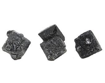 3 Brookite Black Metallic Crystals, Thumbnail Rare Mineral Specimen, Raw gems for Jewelry, Metaphysical Healing Magnet Cove Arkansas Stone