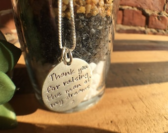 Mother of Groom Thank You Necklace