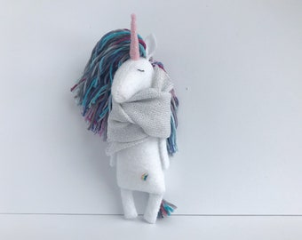 Felt Unicorn, Unicorn soft toy, Unicorn doll, Stuffed Animal, Plush Toy, Unicorn Softie, Unicorn Gift, Felt Animals, Stuffed Unicorn Toy