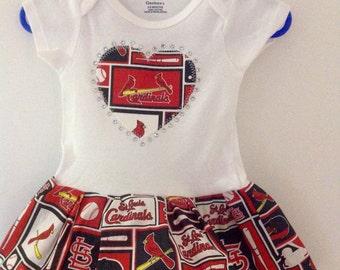 St Louis Cardinals Inspired Dress
