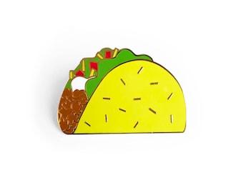 Taco Enamel Pin