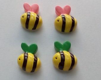 Resin Bumble Bee fridge magnets