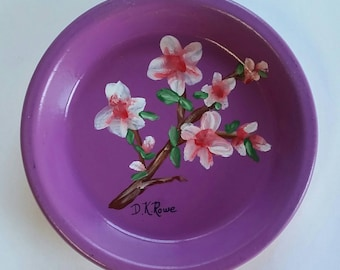 Hand painted jewelry / coin dish.