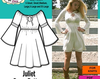 Juliet Bell Sleeve Dress PDF SEWING PATTERN