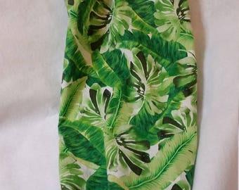 Palm Frond Grocery Bag Holder - Tropical Palm Grocery Bag Holder - Tropical Kitchen - Palm Tree Decor - Tropical Decor