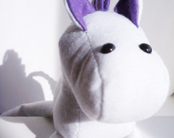 Horse stuffed animal- white and purple