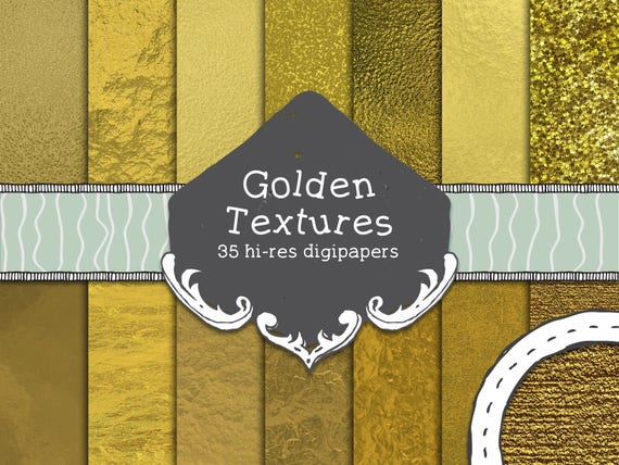 35 Textures dorées, papiers digitaux, feuilles d'or numériques