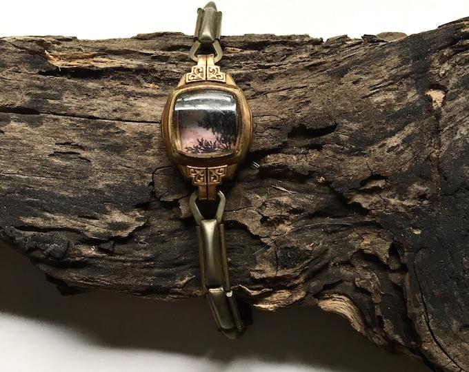 Sonata / original tiny painting framed / timeless watch art