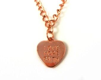 Love hope faith necklace